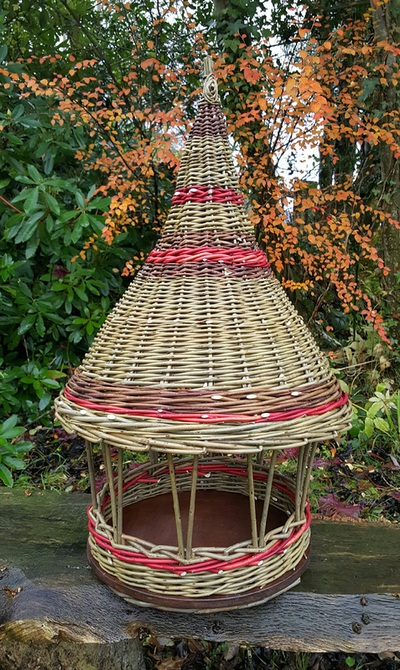 Bird Feeder, Clare Revera Welsh Baskets
