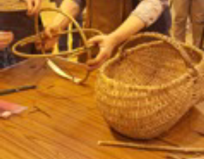 Gower cockle picking basket welsh baskets
