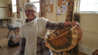 cyntell course, welsh basket, cyntell, willow, willow weaving, south wales